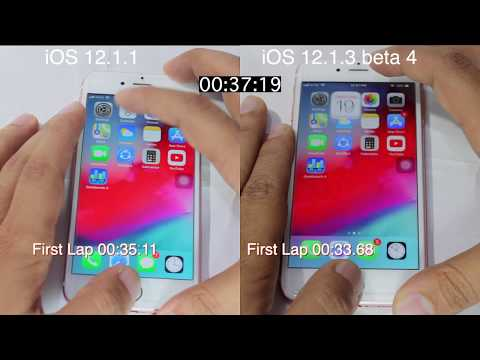iOS 12.1.3 beta 4 vs iOS 12.1.1 Speed Test On iPhone 6s | iSuperTech