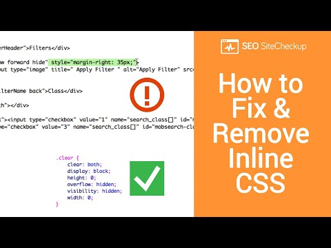 How to Fix and Remove Inline CSS
