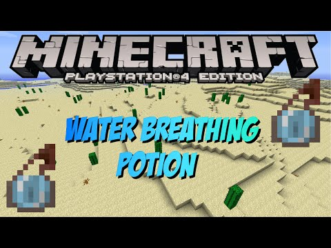 Minecraft PS4 & XBOX 1: How To Make Water Breathing Potions