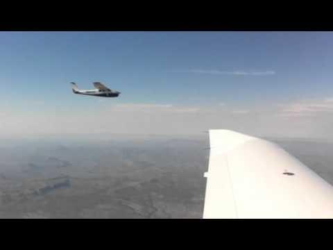 Cessna 210 over south Texas