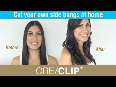 Cut your own side bangs at home