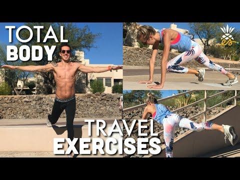Quick Travel Exercises: No Equipment, Full Body Workout (Abs, Glutes, Arms, Legs)