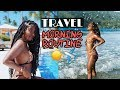MY TRAVEL MORNING ROUTINE! | NaturalNeiicey