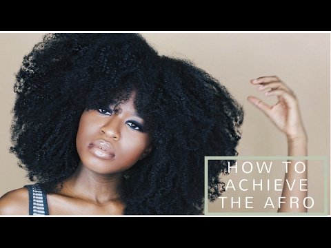 ACHIEVE THE PERFECT/HUGE AFRO ON (TYPE 4A,4B,4C) BOTH WET AND DRY NATURAL HAIR