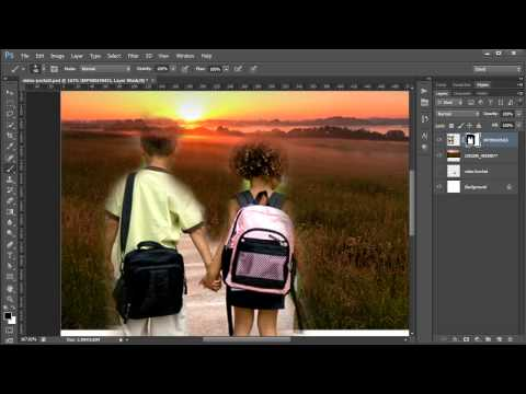 Photoshop Tutorial: Using layer masks to remove parts of an image