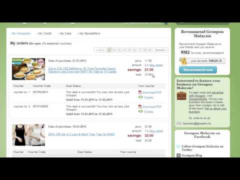 How to obtain your Groupon voucher