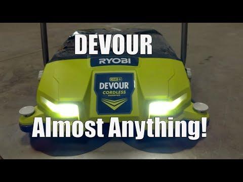 Ryobi One+ 18-Volt Devour Debris Sweeper Review | Model # P3260