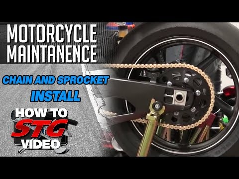 How To Install a Motorcycle Chain and Sprocket Kit from SportbikeTrackGear.com