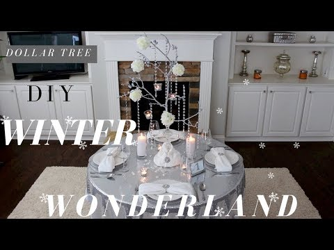 DIY WINTER WONDERLAND DECORATIONS | DIY MANZANITA TREE CENTERPIECE | DOLLAR TREE WEDDING DECORATIONS