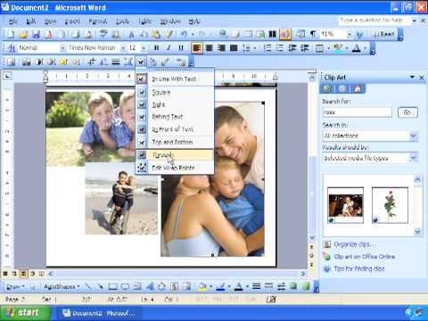 Creating Custom Greeting Cards For Mother's Day, Graduation, Birthday, Invitation - Word 2003
