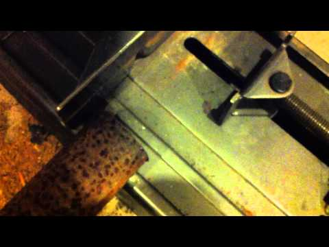 Cutting Steel Pipe with Chop Saw - Cutting Trick
