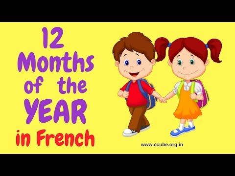 The French Months of the Year with pronunciation - Les mois de l'année