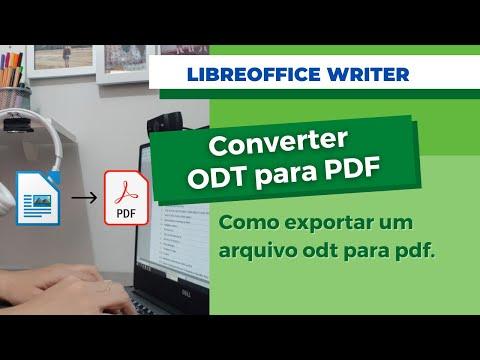 Converter odt para pdf LibreOffice Writer