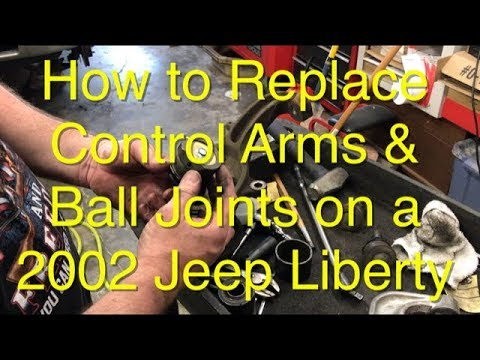 How To Replace Upper Control Arms & Lower Ball Joints On A Jeep Liberty 2002