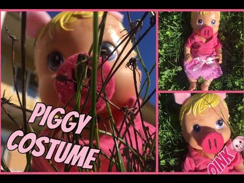 DIY BABY ALIVE PIGGY HALLOWEEN COSTUME 💗