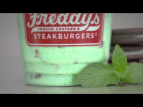 Freddy's Mint Oreo Concrete
