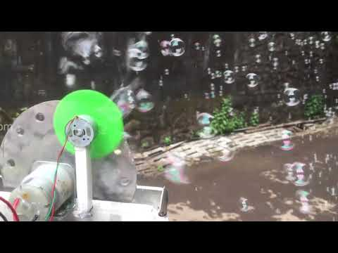 Automatic Bubble Maker With Speed Control