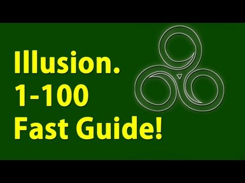 Illusion 1-100 Under a minute Skyrim Fastest way to level
