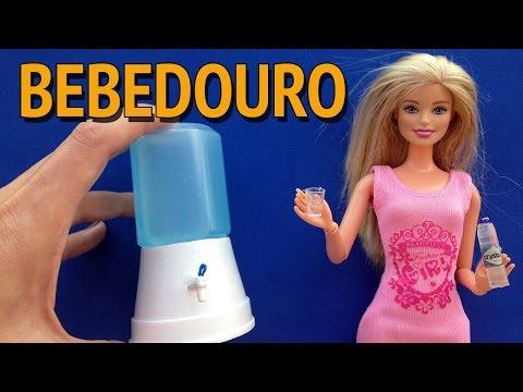 Como fazer Bebedouro/Filtro de Água para Barbie e outras Bonecas!