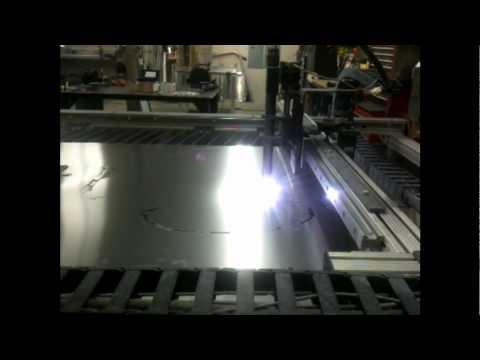 Flatline Fabrication's CNC plasma cutting 20 ga. aluminum