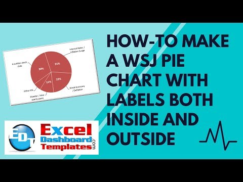 How-to Make a WSJ Excel Pie Chart with Labels Both Inside and Outside