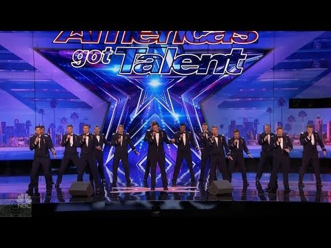 America's Got Talent 2017 In The Stairwell Airforce Academy Acapela Full Audition S12E03