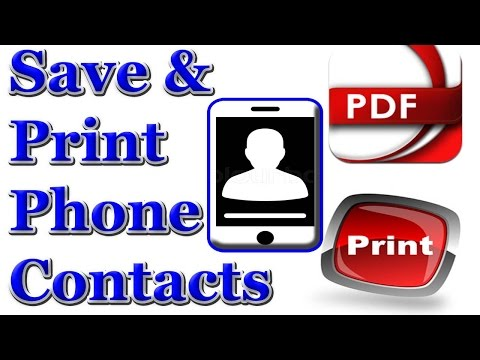mobile contacts transfer to pdf
