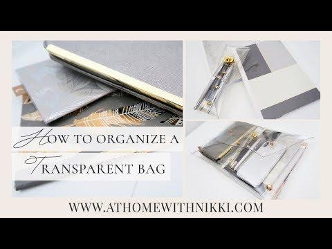 HANDBAG ORGANIZATION | How To Organize A Transparent Bag