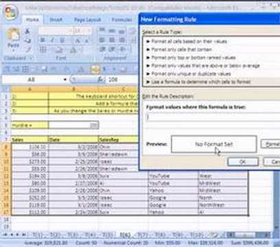 Excel Magic Trick #6: Conditional Formatting for a Row