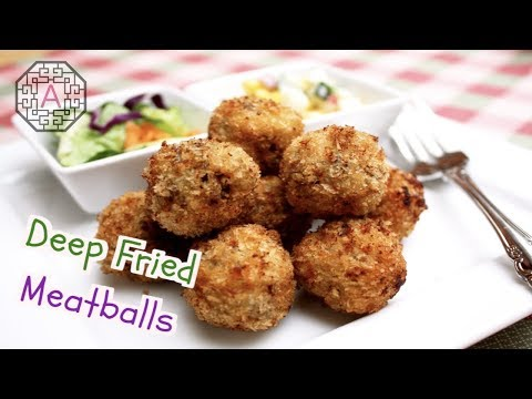 Korean Style Deep-fried Meatballs (동그랑땡)