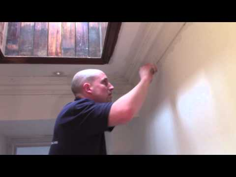 Plaster Coving Installation - How To Fill A Mitre