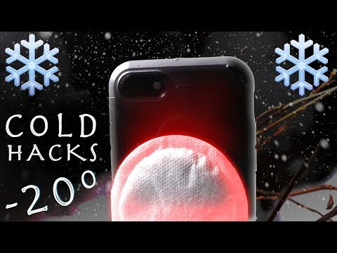 4 Cool Cold Hacks! - Smartphone Hand Warmer and More!!!