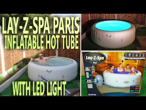 Lazy Spa Paris - Unboxing Inflatable Hot Tub with LED Light