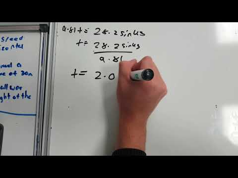 Example of a Projectile motion problem solving