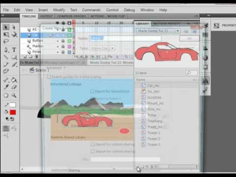 Flash Tutorial 24 Car On Back Ground Controlled