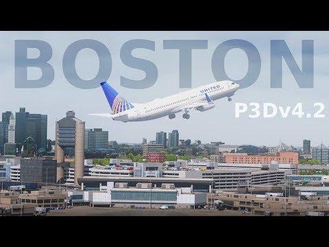 [P3Dv4] Boston Take Off (NEW SCENERY)