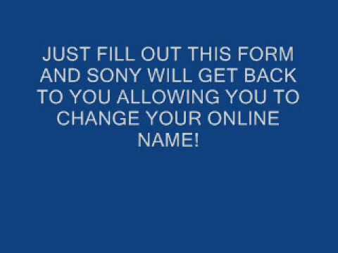 How to change your playstation online id gamertag