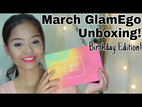 March GlamEgo Box Unboxing Birthday Edition || Sayantani Some , Kolkata , India