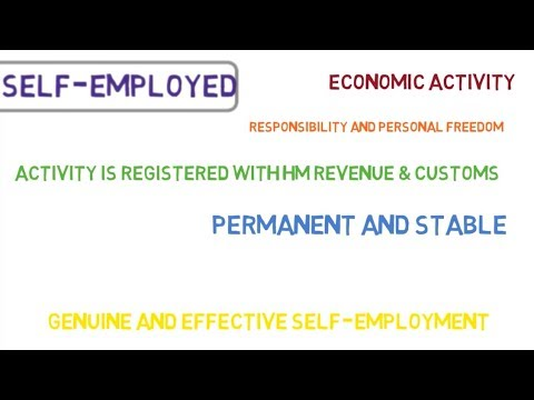 EEA Nationals, Qualified Persons: SELF-EMPLOYED PERSON