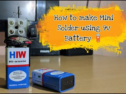 How To Make Mini Soldering Iron With 9V Battery | Small Solder |Portable Soldering Iron |