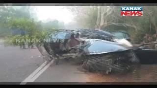 Car Crash On Puri-Konark Marine Drive Claims One Life, 5 Injured