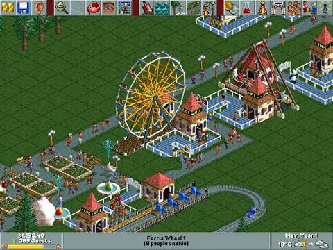 Rollercoaster Tycoon demo (Windows game 1999)
