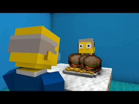 Steamed Hams but it's a Minecraft animation