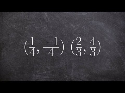 How to determine the slope between two points that are fractions
