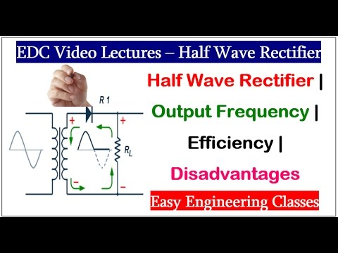 Half Wave Rectifier | Output Frequency | Efficiency | Disadvantages in Hindi