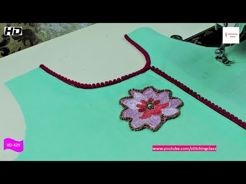 Stylish  Neck Design, Latest Neck Design Easy Way Cutting and Stitching Method step by step
