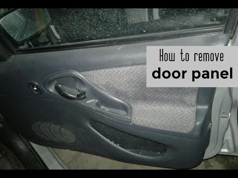 How to remove and reinstall the door panel on your car DIY video