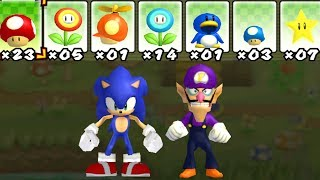 What happens when Sonic and Waluigi uses Mario