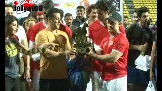 Salman Khan,Tiger Shroff, Aamir, Hrithik, Imraan & Others at Charity Celebrity Football Match-5