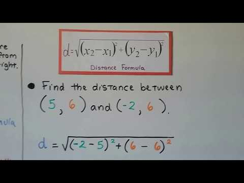 G.E.D. Math 22e, Finding the Distance between two points